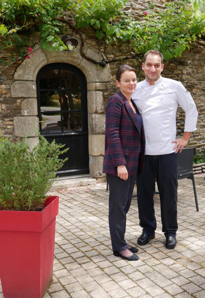 Manon et Arnaud Domette, propriétaires du restaurant gastronomique Le Kerstephanie