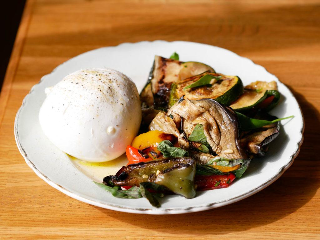Mozzarella di Buffala et légumes marinés