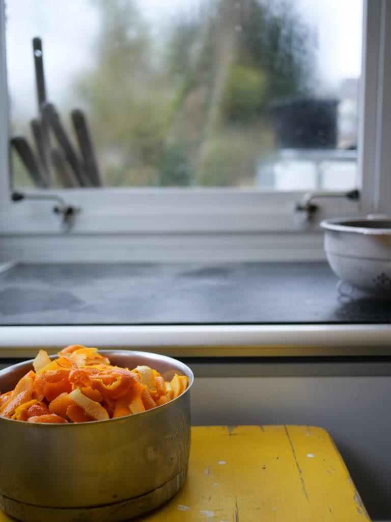 ecorces d'orange et levure