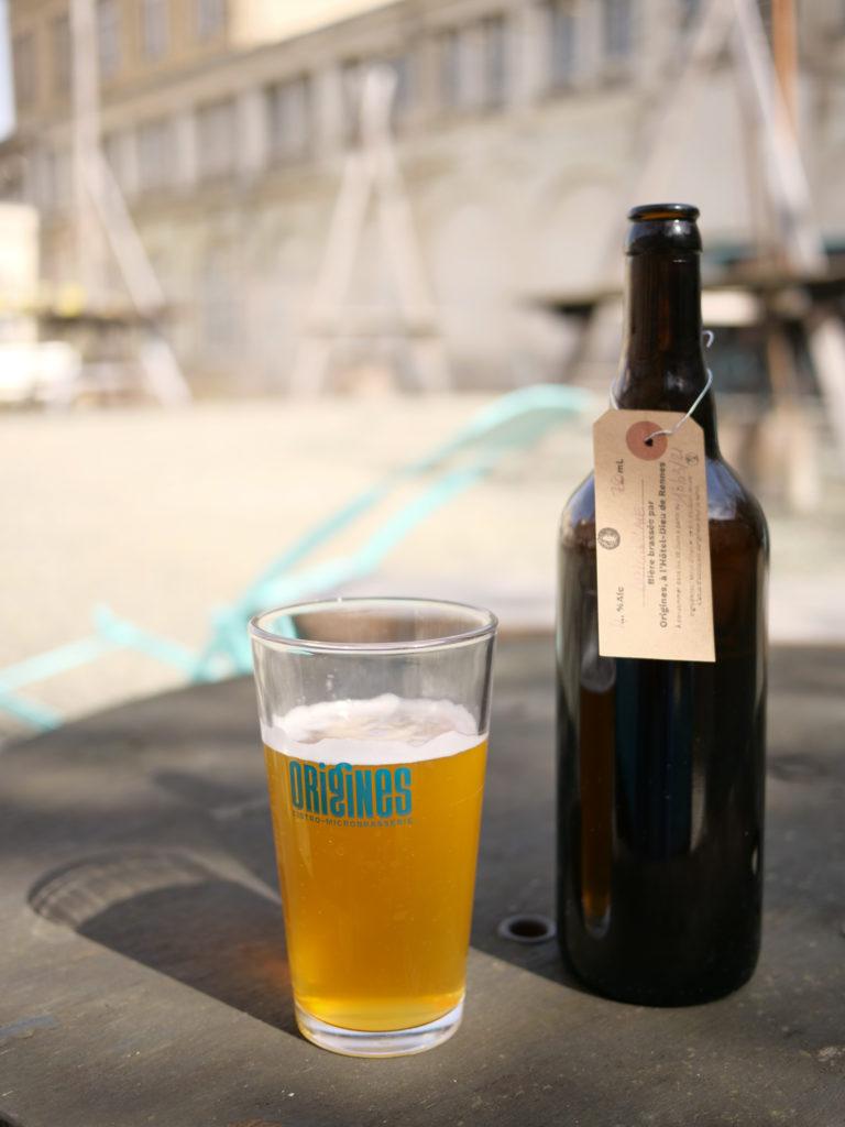 Bière à emporter avec bouteille consignée, Microbrasserie Origines.